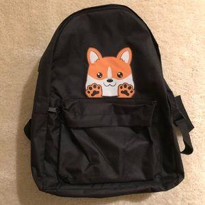 CORGI Backpack in Black (BRAND NEW)